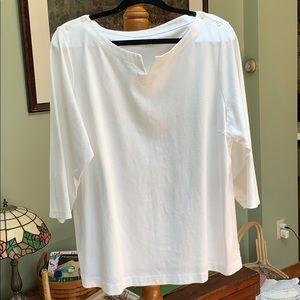 White LL Bean shirt